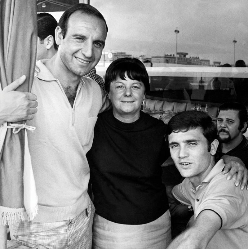 Humberto Maschio, Tita Mattiussi y Roberto Perfumo Racing Club