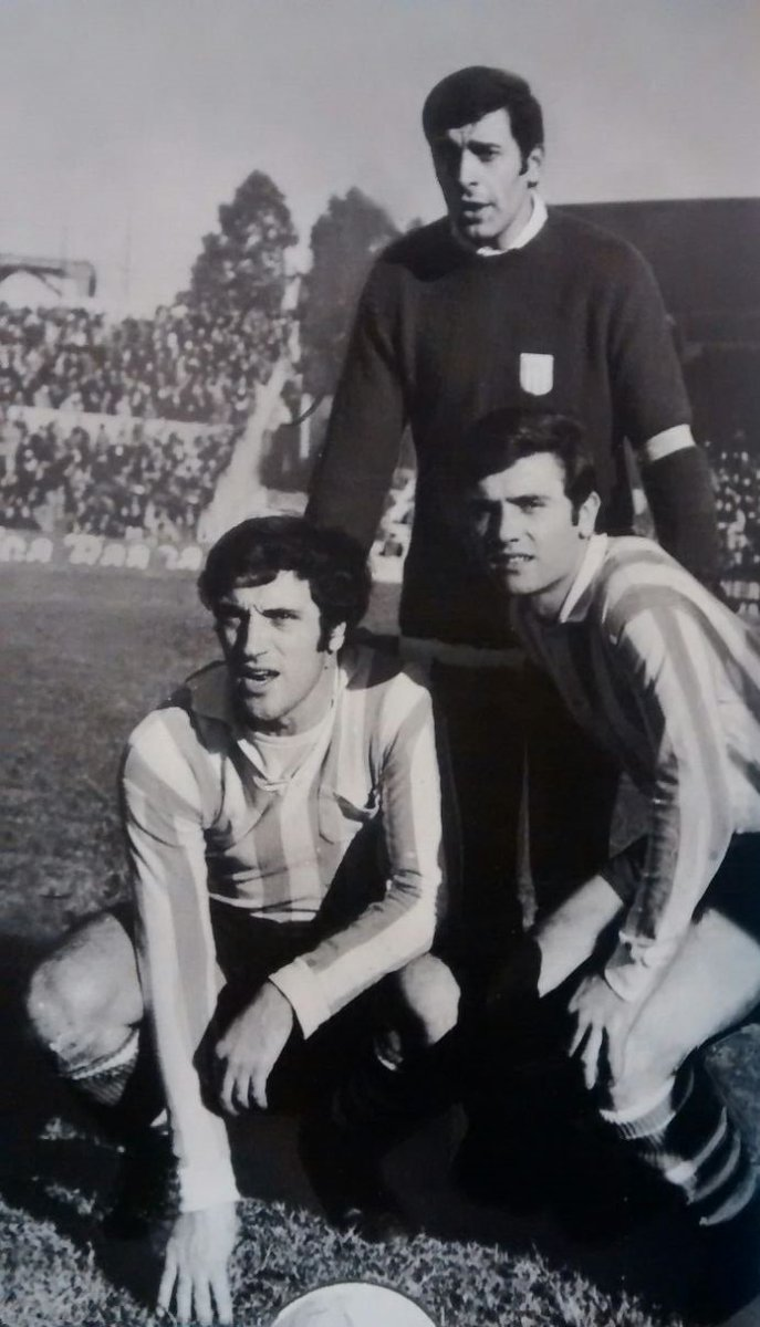 Alfio Basile, Roberto Perfumo y Agustín Mario Cejas en Racing Club