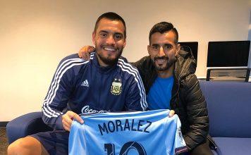 Maximiliano Moralez y Sergio Romero