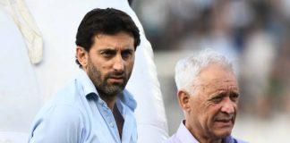 Diego Milito y Víctor Blanco Racing Club